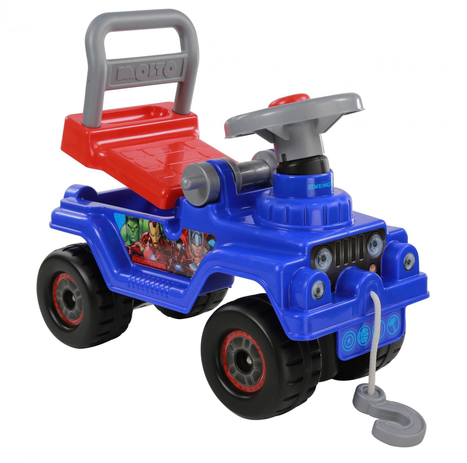Фото - Джип-каталка Полесье Marvel. Мстители, цвет в ассортименте полесье набор игрушек для песочницы 468 цвет в ассортименте