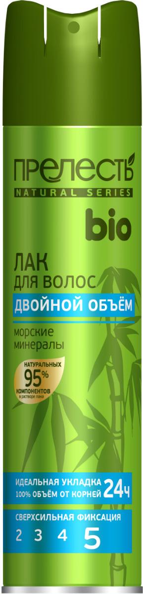 Лак для волос Прелесть Bio Двойной объем, с морскими минералами, 210 мл шампунь для волос прелесть bio питание и увлажнение с алоэ и морскими минералами 500 мл
