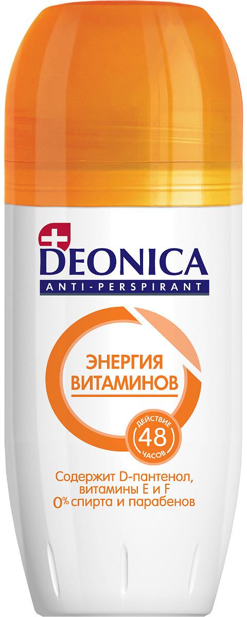 """Антиперспирант-ролик Deonica """"Энергия витаминов"""", с комплексом витаминов F, E и D-пантенолом, 50 мл"""