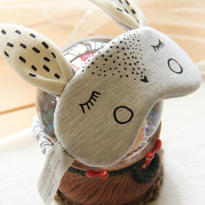 Маска для сна Halluci Кролик, цвет: серый. H905