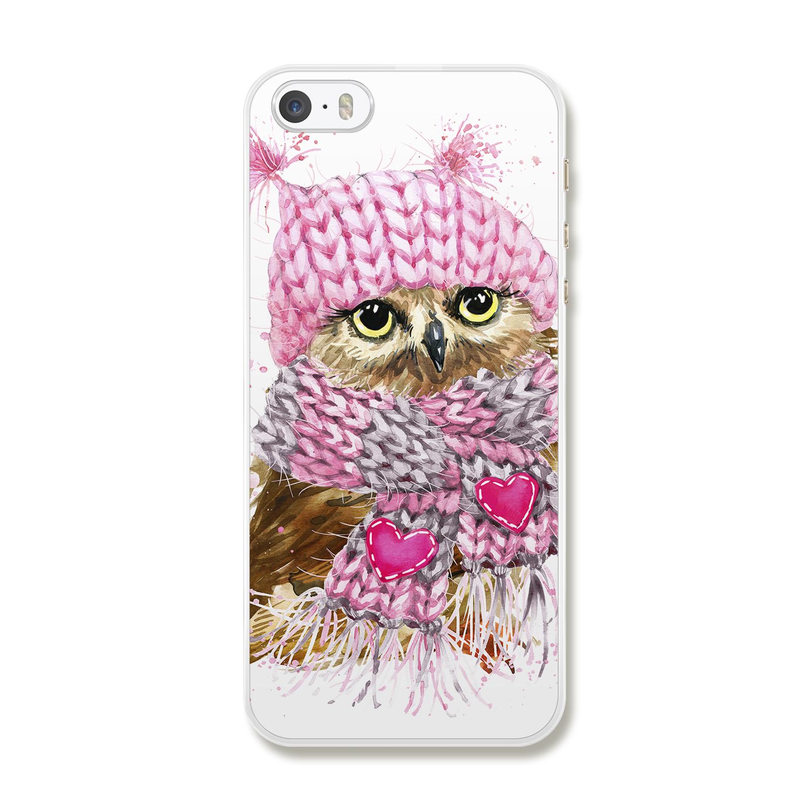 """Чехол для iPhone 5/5S/SE """"Зимняя сова"""""""