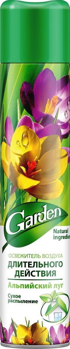"""Освежитель воздуха Garden """"Альпийский луг"""". Сухое распыление: без пятен, аромат держится дольше! Выгодный объем - 345 мл!"""