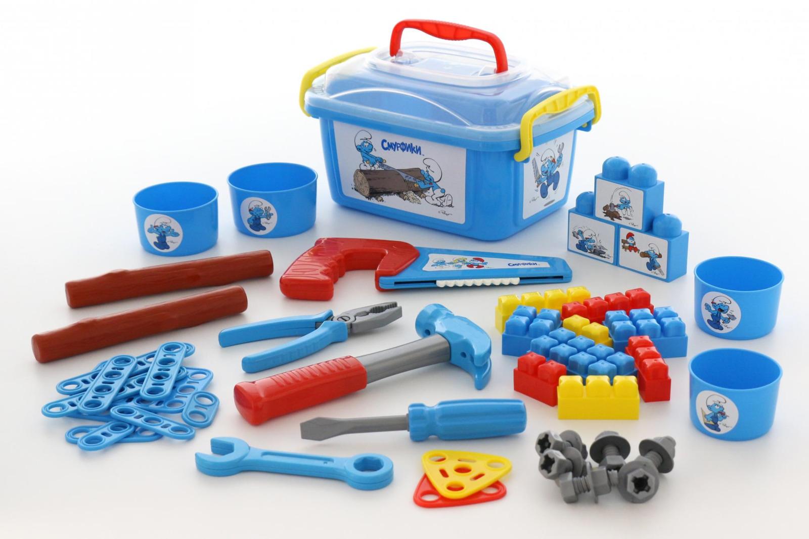 Фото - Набор Полесье Смурфик-мастер, цвет в ассортименте полесье набор игрушек для песочницы 468 цвет в ассортименте