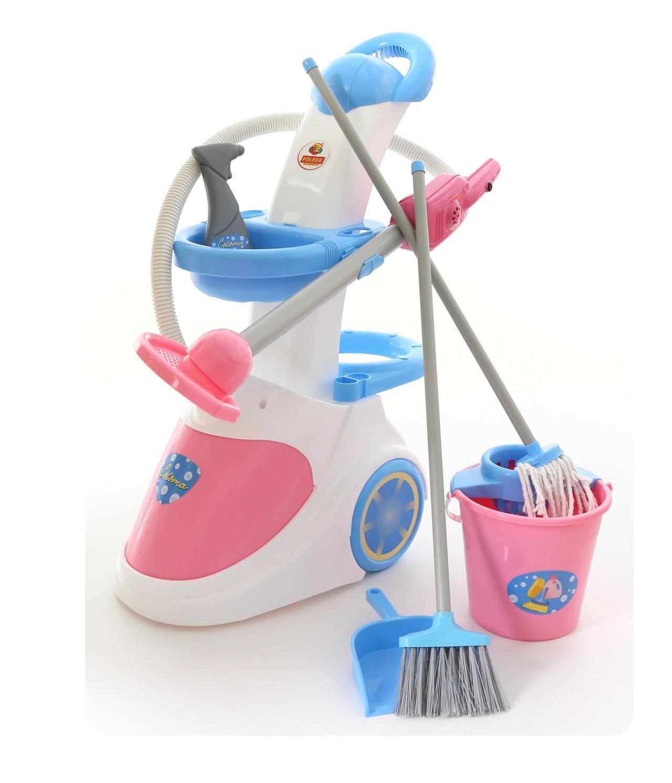 Фото - Набор Полесье Помощница-5, с пылесосом, цвет в ассортименте полесье набор игрушек для песочницы 468 цвет в ассортименте