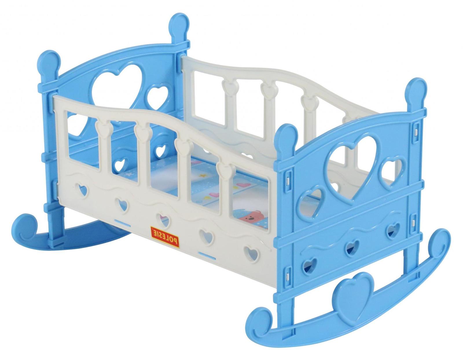 Кроватка-качалка сборная для кукол Полесье №2, 7 элементов, цвет в ассортименте кроватка качалка для кукол полесье кроватка качалка сборная для кукол 2