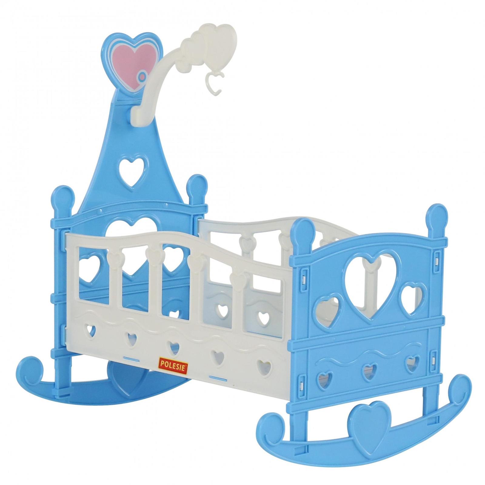 Кроватка-качалка сборная для кукол Полесье №3, 8 элементов, цвет в ассортименте кроватка качалка для кукол полесье кроватка качалка сборная для кукол 2