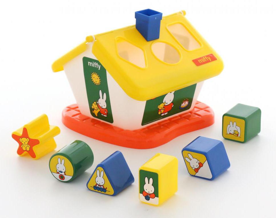 Сортер Полесье Логический домик. Миффи №1, с 6 кубиками, цвет в ассортименте