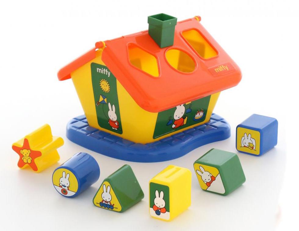 Сортер Полесье Логический домик. Миффи №2, с 6 кубиками, цвет в ассортименте