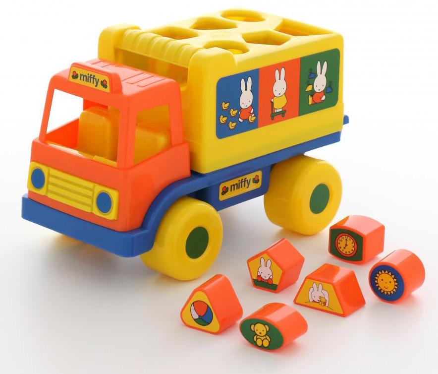 """Сортер Полесье """"Логический грузовичок. Миффи №1"""", с 6 кубиками, цвет в ассортименте"""