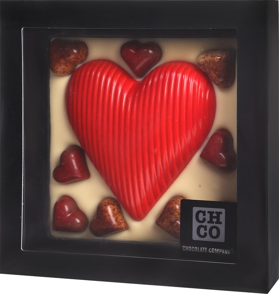 Сердце с шоколадными конфетами Chocbar XL De Luxe Chco, 380 г chco лев с сердцем молочный детский шоколад 70 г