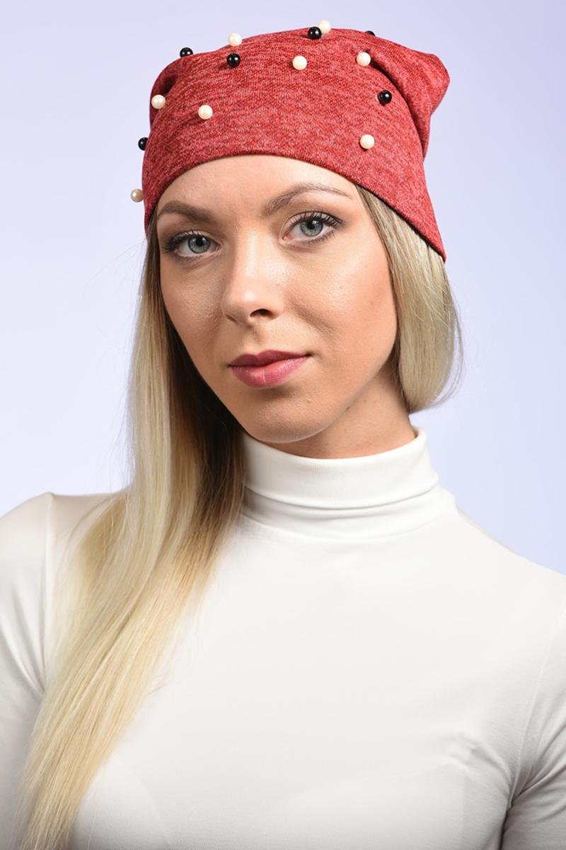 Шапка женская Grazor, цвет: красный. TR17024. Размер 54/58TR17024Модная демисезонная трикотажная шапка, декорирована жемчужными бусинками – настоящая находка для девушки. Такой головной убор не только защитит вас от холода, но и подчеркнет вашу женственность и природное очарование. Модель изготовленаиз высококачественной пряжи, очень мягкая и приятная на ощупь, имеет удлиненный фасон.