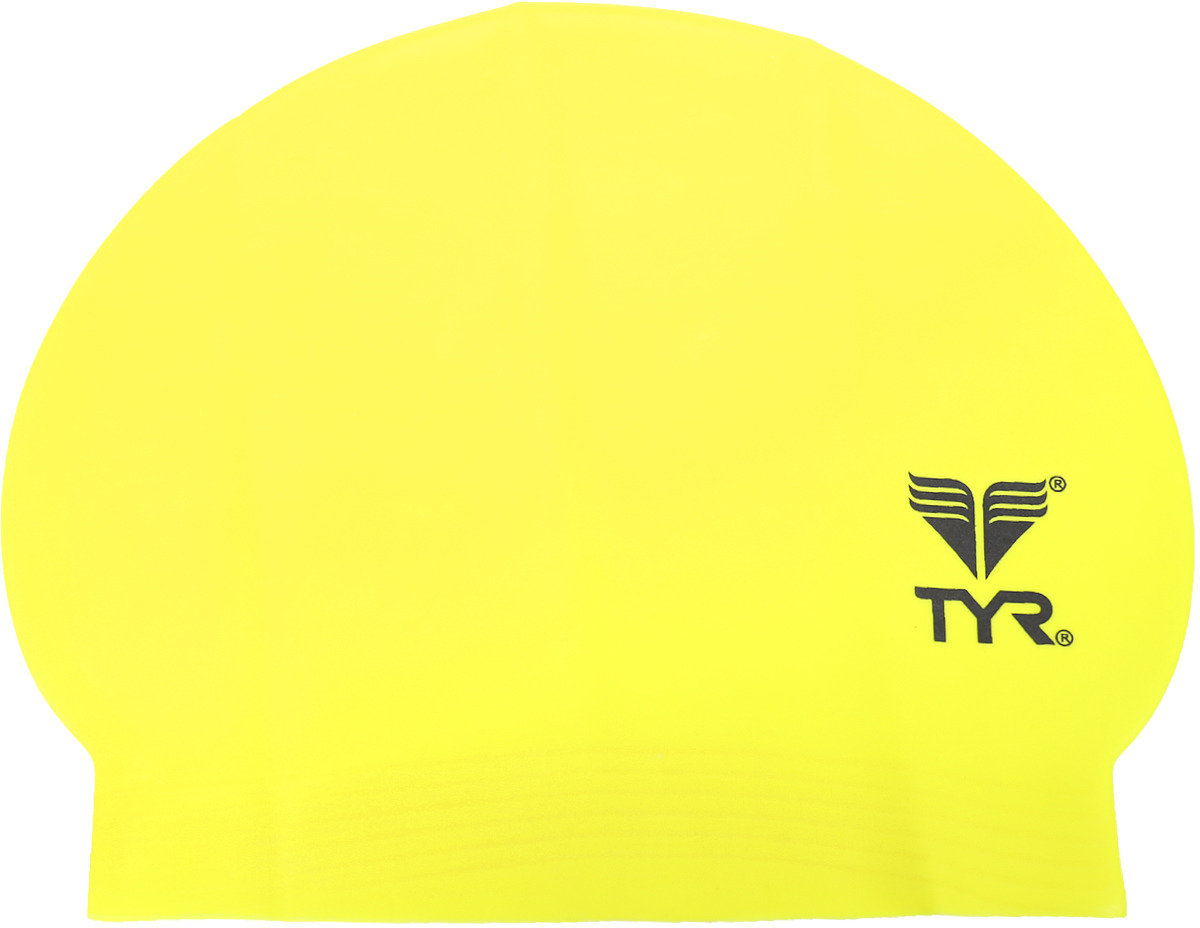 Шапочка для плавания Tyr Latex Swim Cap, цвет: желтый. LCL шапочка для плавания tyr latex swim cap цвет зеленый lcl