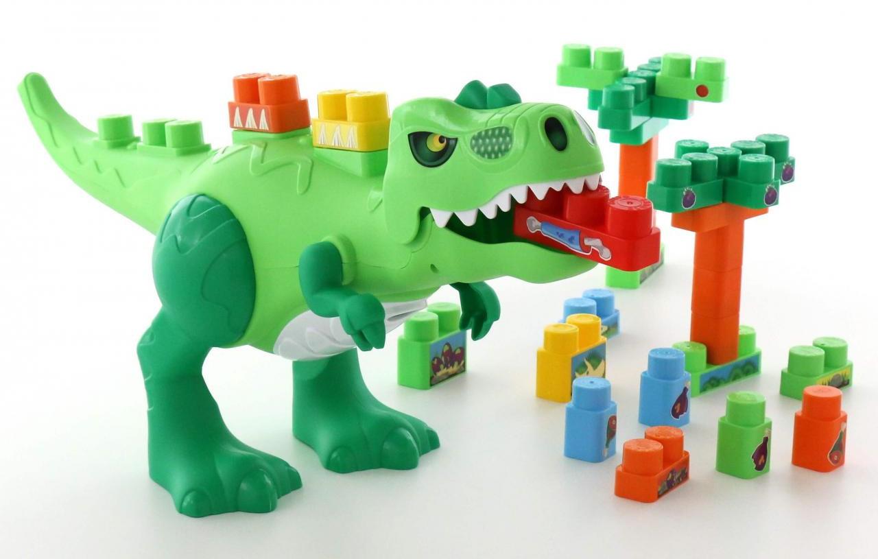 """Набор Полесье """"Динозавр"""" + конструктор, 30 элементов, цвет в ассортименте"""