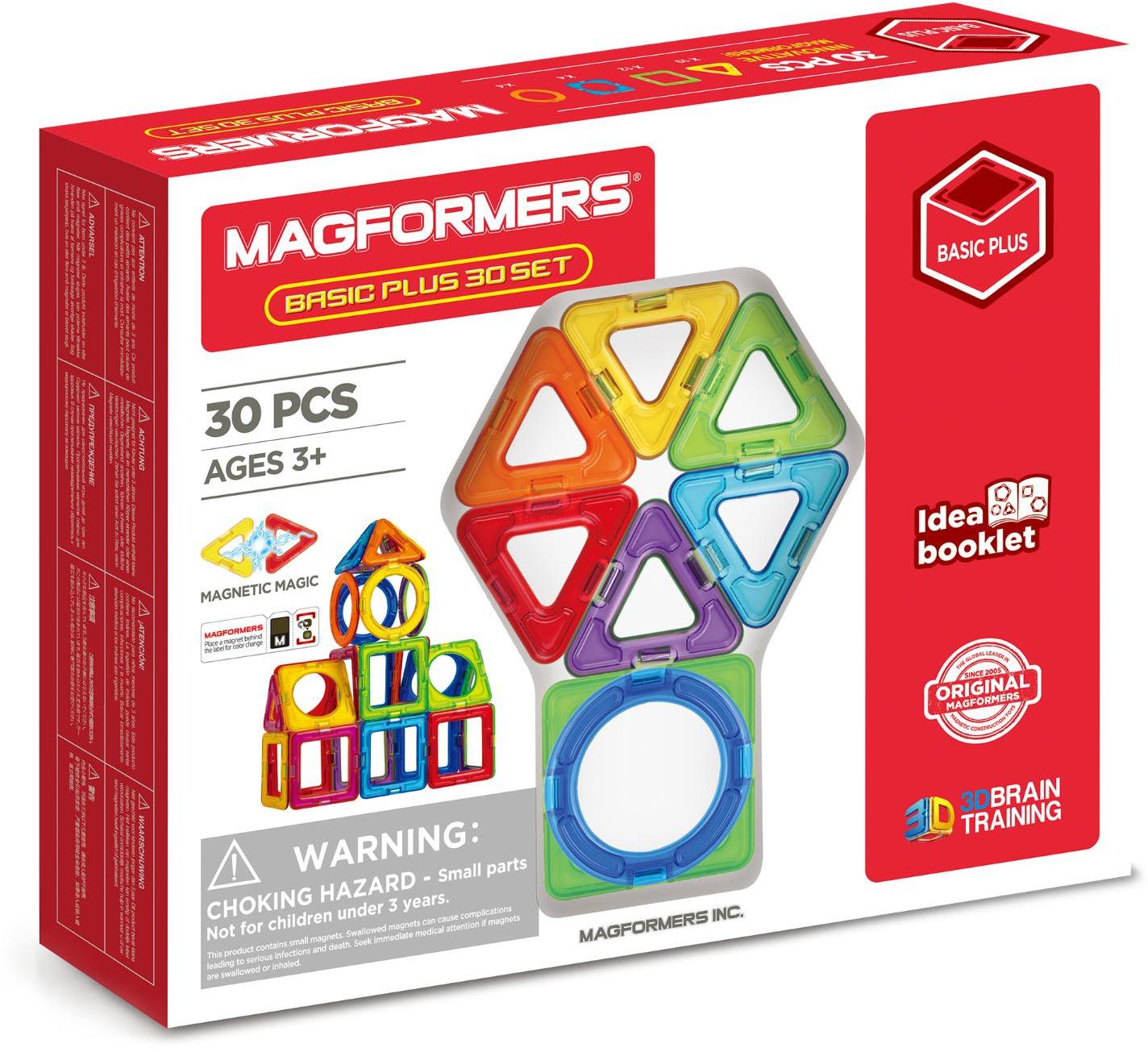 Магнитный конструктор Magformers Basic Plus 30 Set