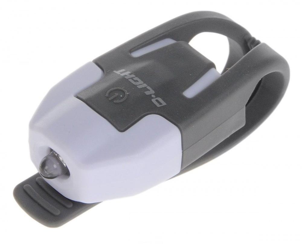 Задний габаритный велофонарь D-Light. CG-210R-WH+GY задний габаритный фонарь с зарядкой topeak redlite mini usb tms078