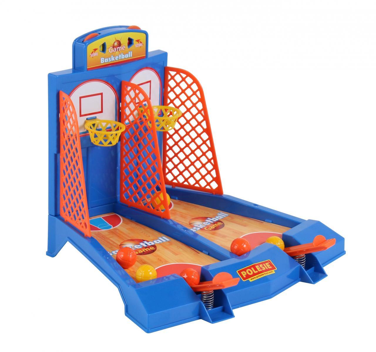 Игра Полесье Баскетбол, для 2-х игроков, цвет в ассортименте игра полесье поймай уточку для 2 х игроков в коробке 40541