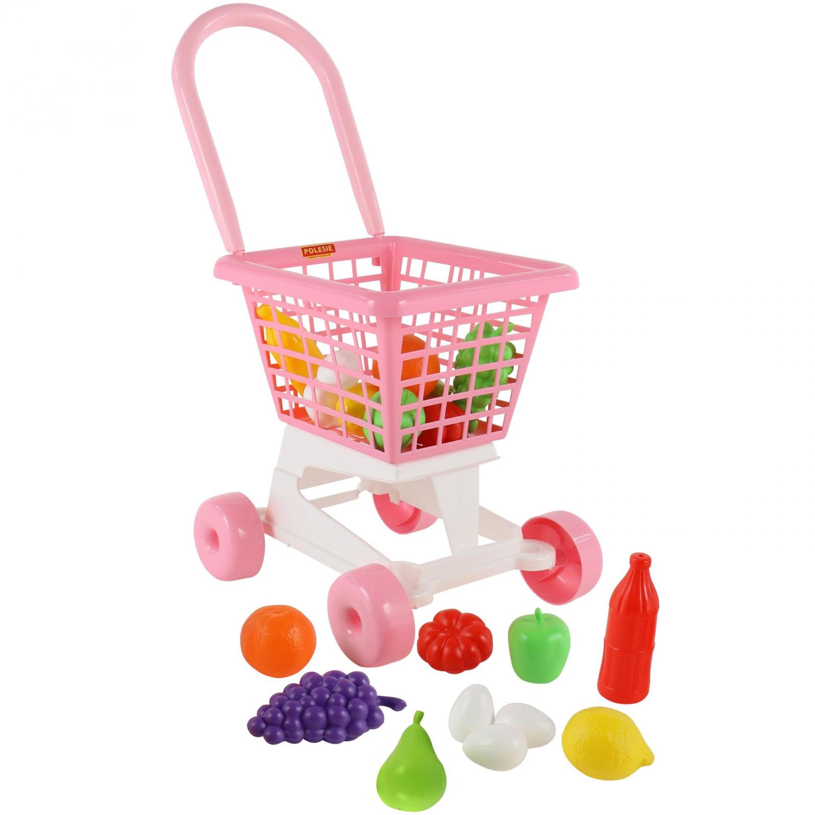 Фото - Тележка Полесье Supermarket №1 + набор продуктов, цвет в ассортименте полесье игрушечная тележка supermarket 1 с набором продуктов цвет в ассортименте