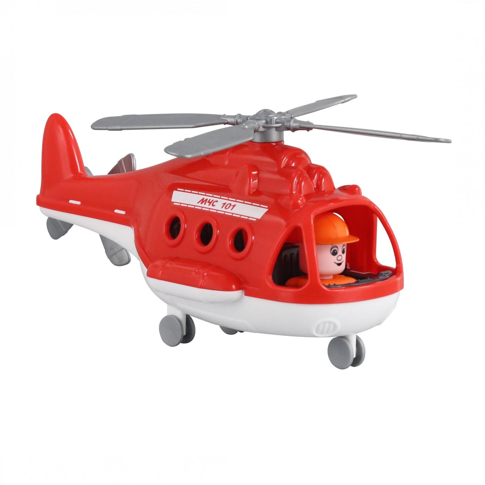 Вертолет пожарный Полесье Альфа. 68651, цвет в ассортименте игрушка полесье альфа 68729
