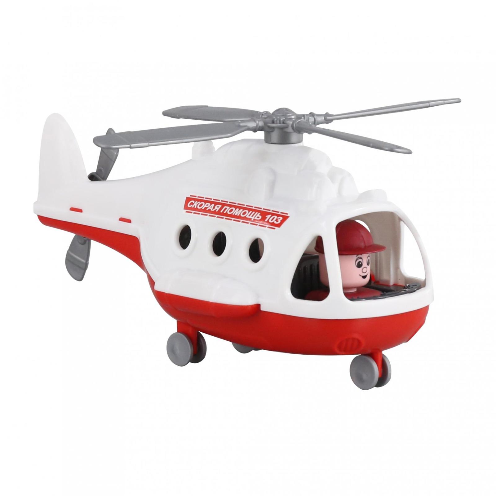 Фото - Вертолет-скорая помощь Полесье Альфа. 68668, цвет в ассортименте viking toys вертолет скорая помощь джамбо 30 см
