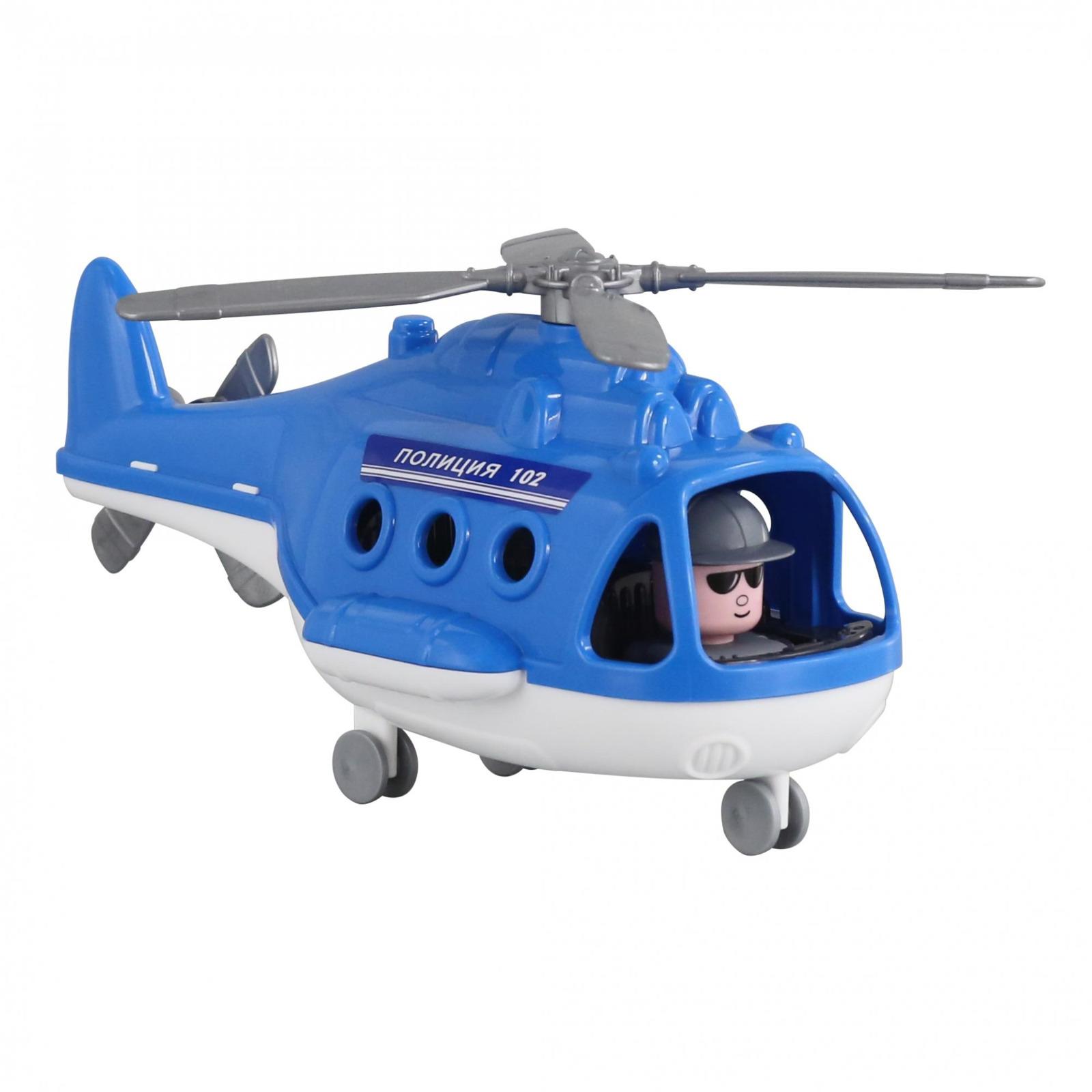 Вертолет-полиция Полесье Альфа. 68675, цвет в ассортименте игрушка полесье альфа 68729