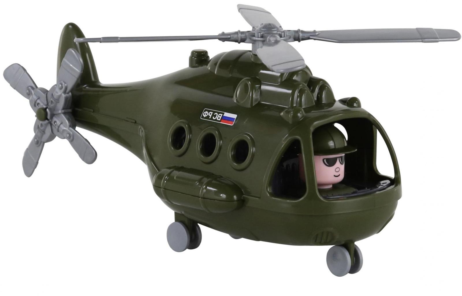 Вертолет военный Полесье Альфа. 68729, цвет в ассортименте игрушка полесье альфа 68729