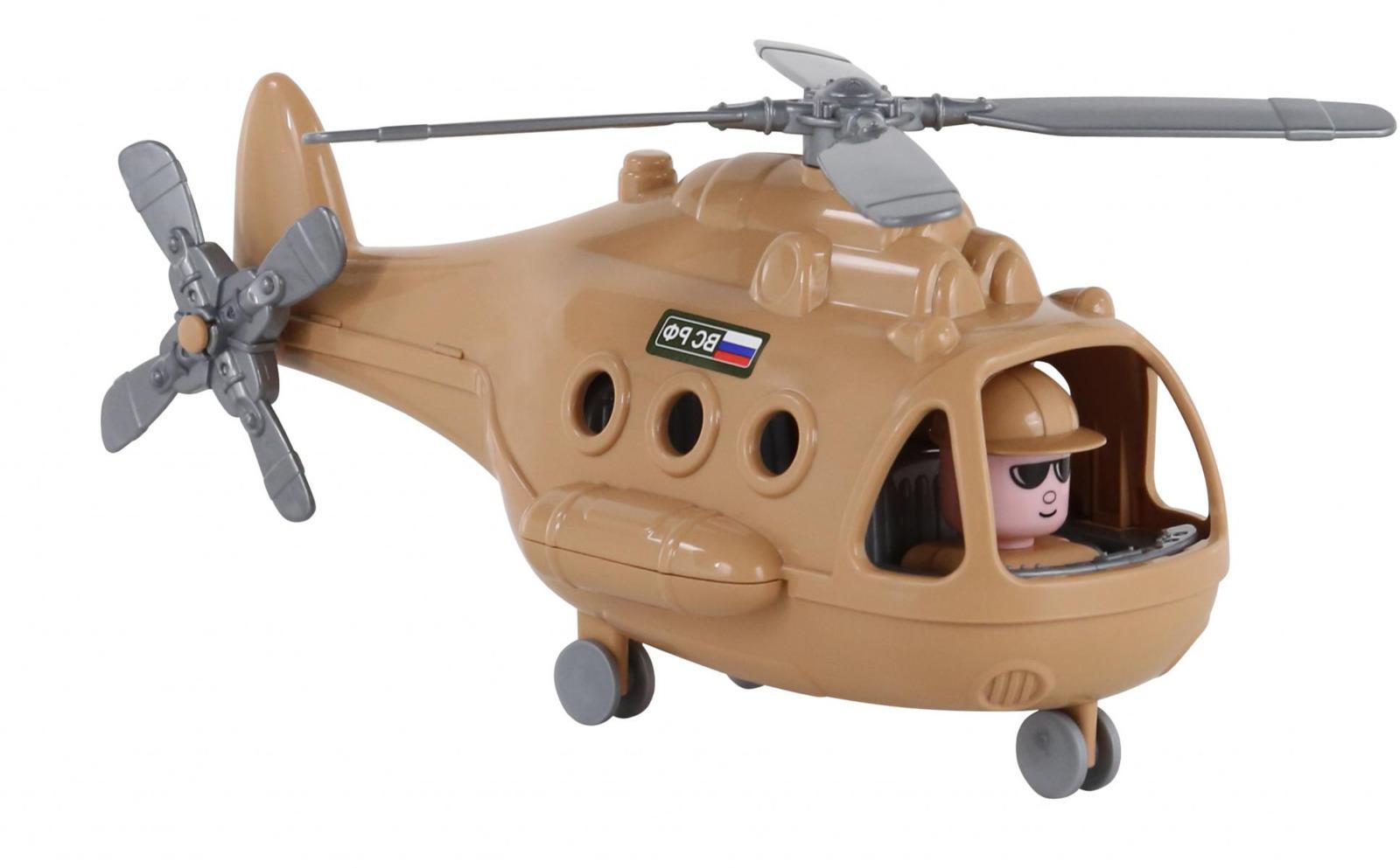 Вертолет военный Полесье Альфа-Сафари. 68774, цвет в ассортименте игрушка полесье альфа 68729