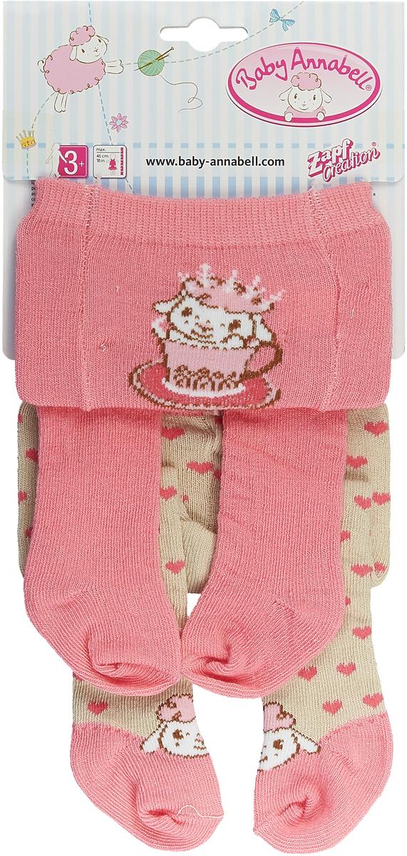 "Одежда для кукол Zapf Creation ""Baby Annabell"" , колготки, цвет: бежевый, розовый"