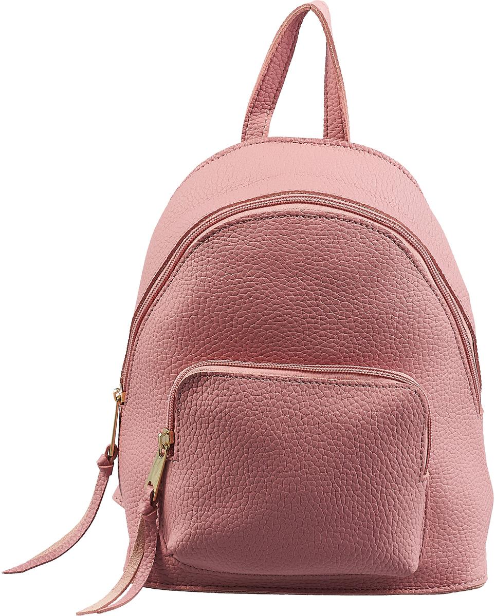 Сумка-рюкзак женская DDA, цвет: розовый. DDA LB-1172PN шапка женская labbra цвет темно розовый серый lb rr33005 dirty pink grey размер универсальный