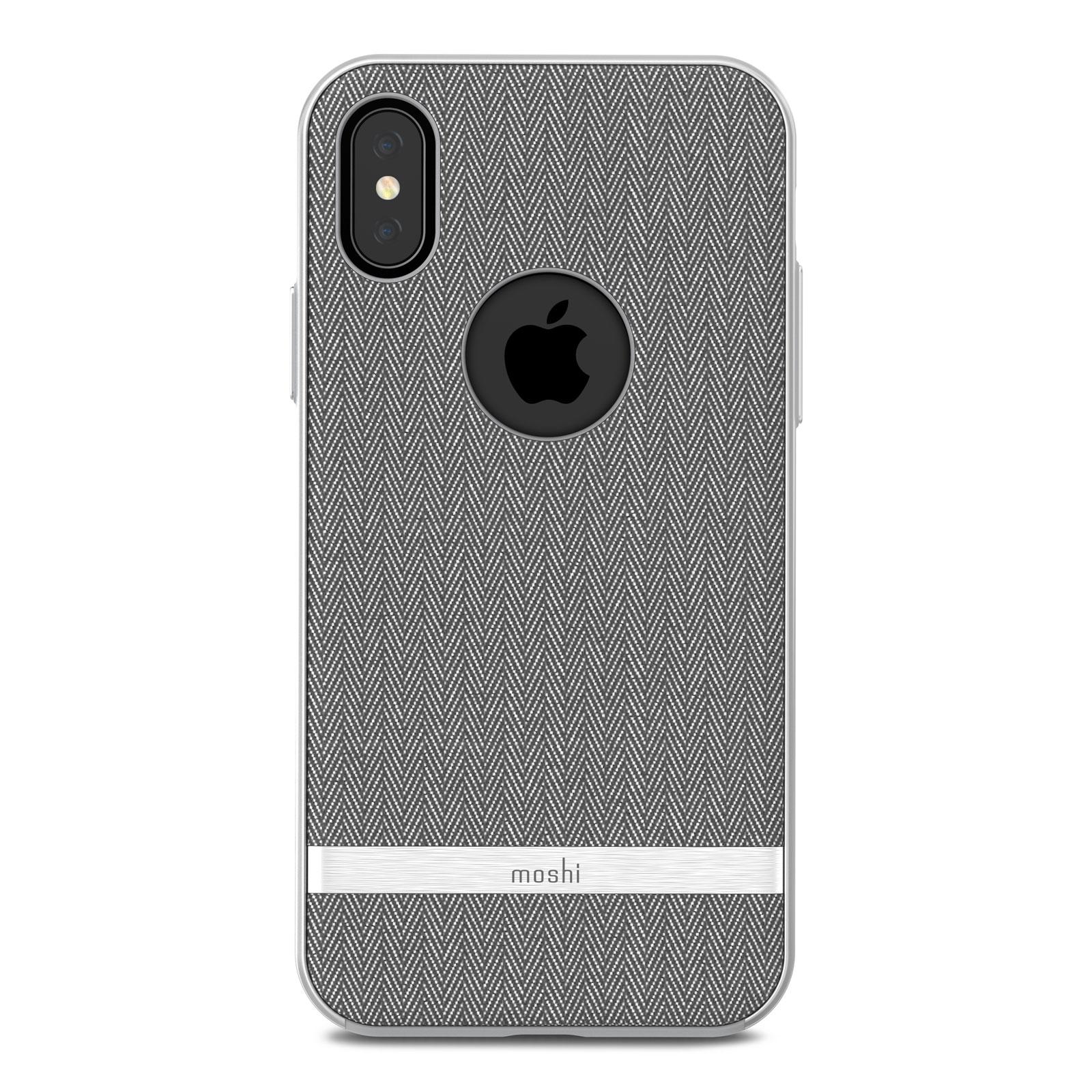 Клип-кейс Moshi Vesta для iPhone X, Gray. 99MO101031