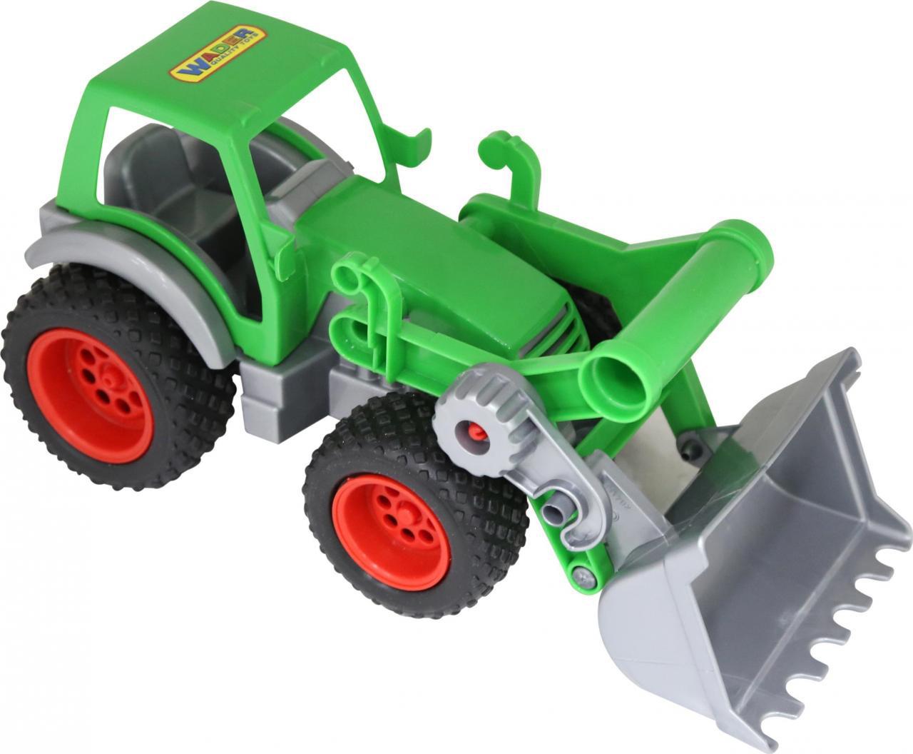 Трактор-погрузчик Полесье Фермер-техник, цвет в ассортименте трактор полесье трактор погрузчик умелец оранжевый 159238