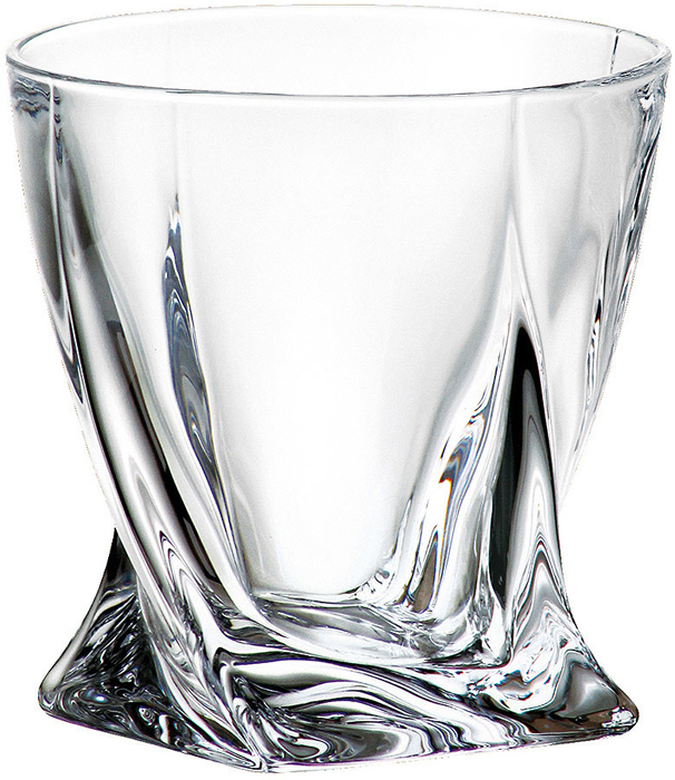 Набор стаканов для виски Crystalite Bohemia Quadro, 340 мл, 6 шт набор для виски 7 предметов crystalite bohemia набор для виски 7 предметов