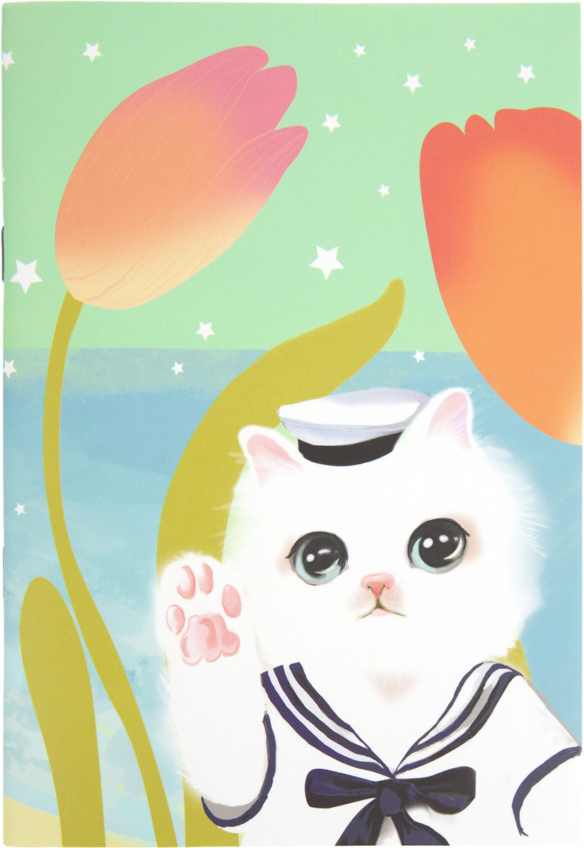 Блокнот Kawaii Factory Котик в матроске, 24 листа