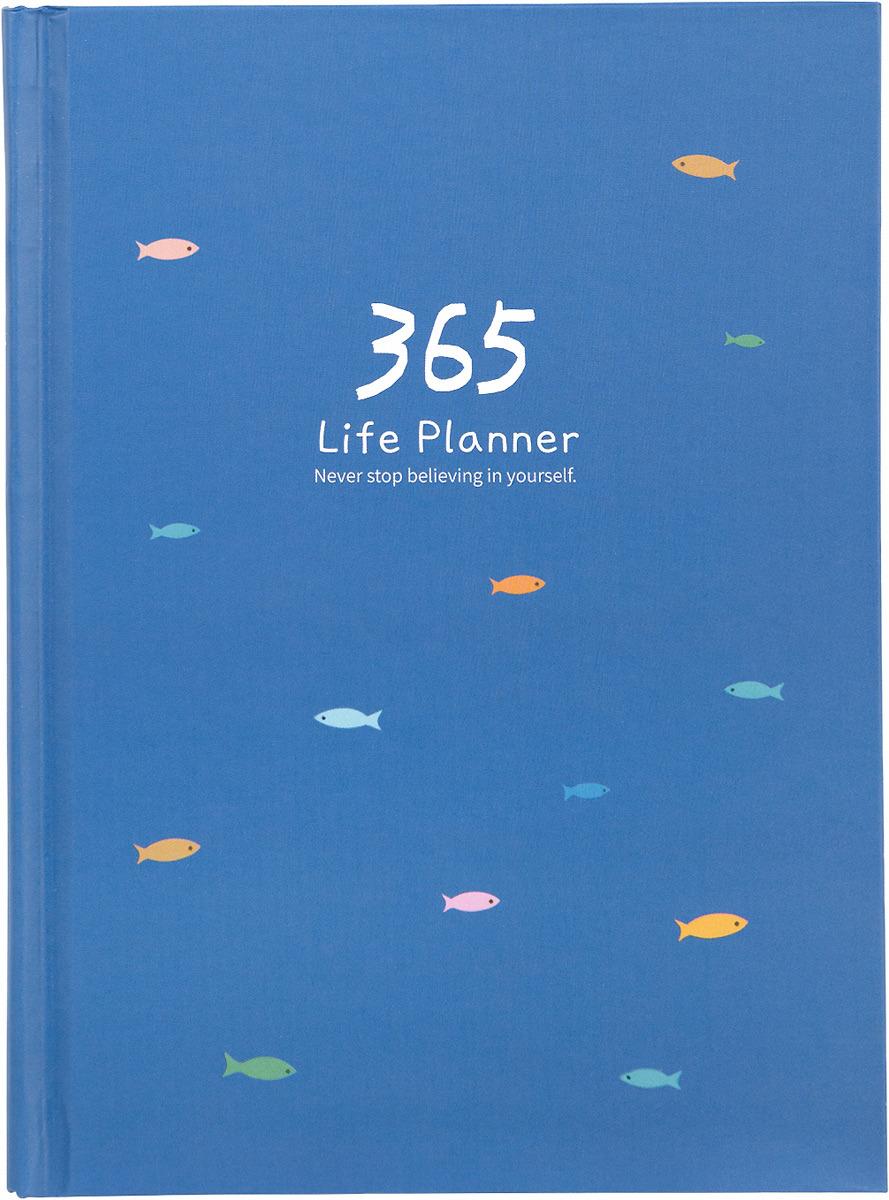 Ежедневник Kawaii Factory 365, цвет: синий, 185 листов колье kawaii factory metal цвет синий kw091 000110
