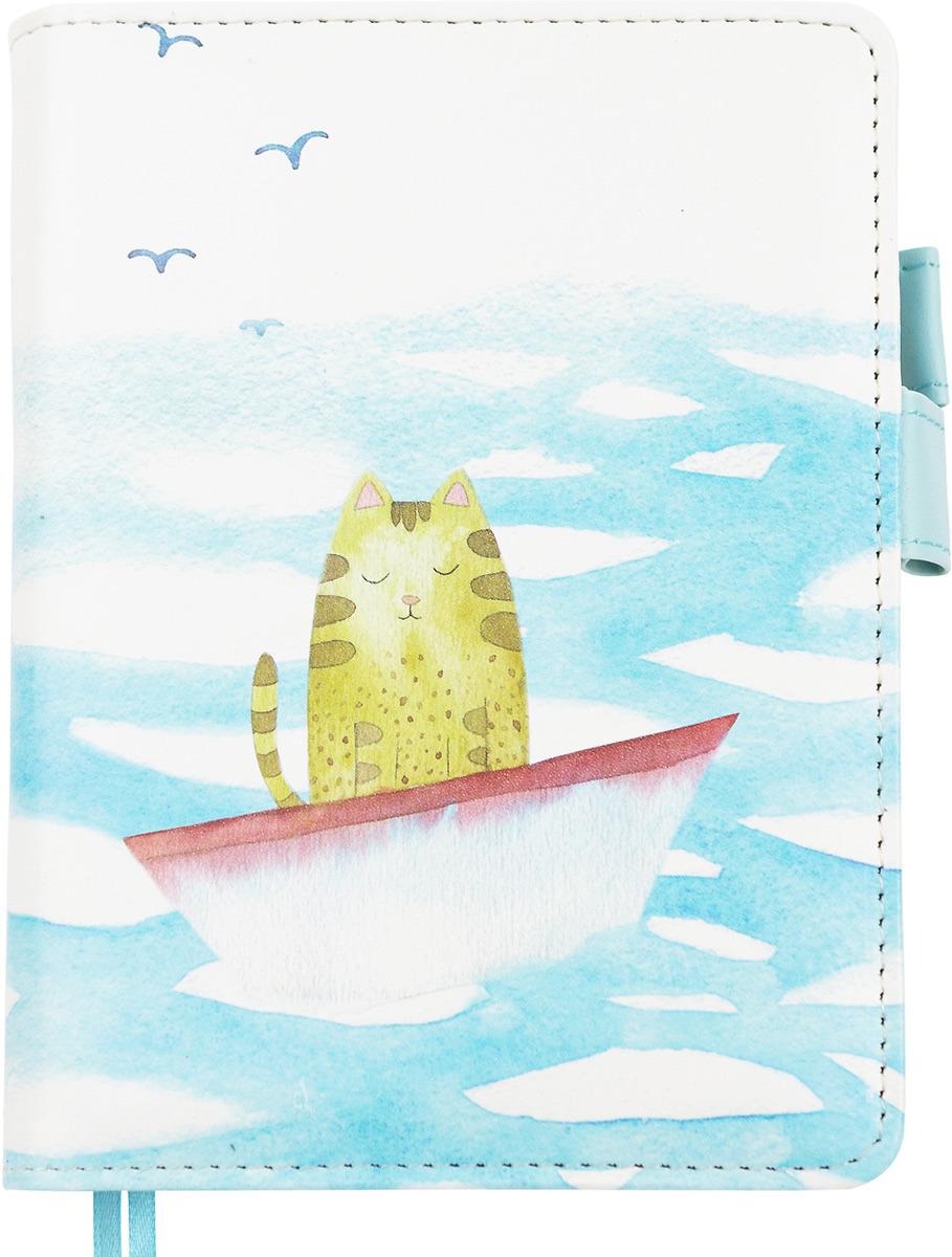 Ежедневник Kawaii Factory Лодка, 100 листов в клетку, формат А6 ежедневник на кнопке kawaii factory большой кот лес 112 страниц формат а6