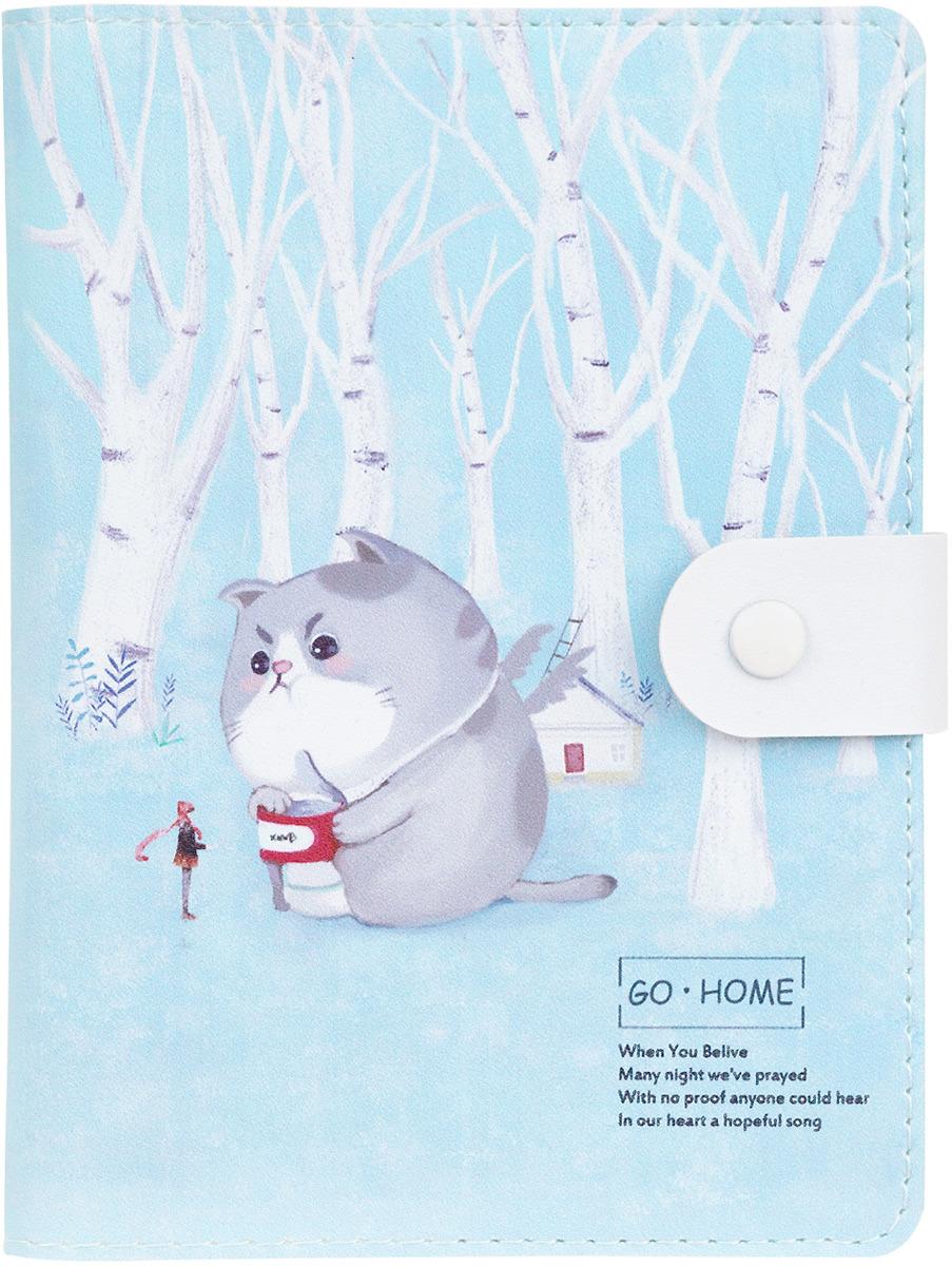 Ежедневник на кнопке Kawaii Factory Большой кот. Березы, 112 страниц, формат А6 ежедневник на кнопке kawaii factory большой кот лес 112 страниц формат а6