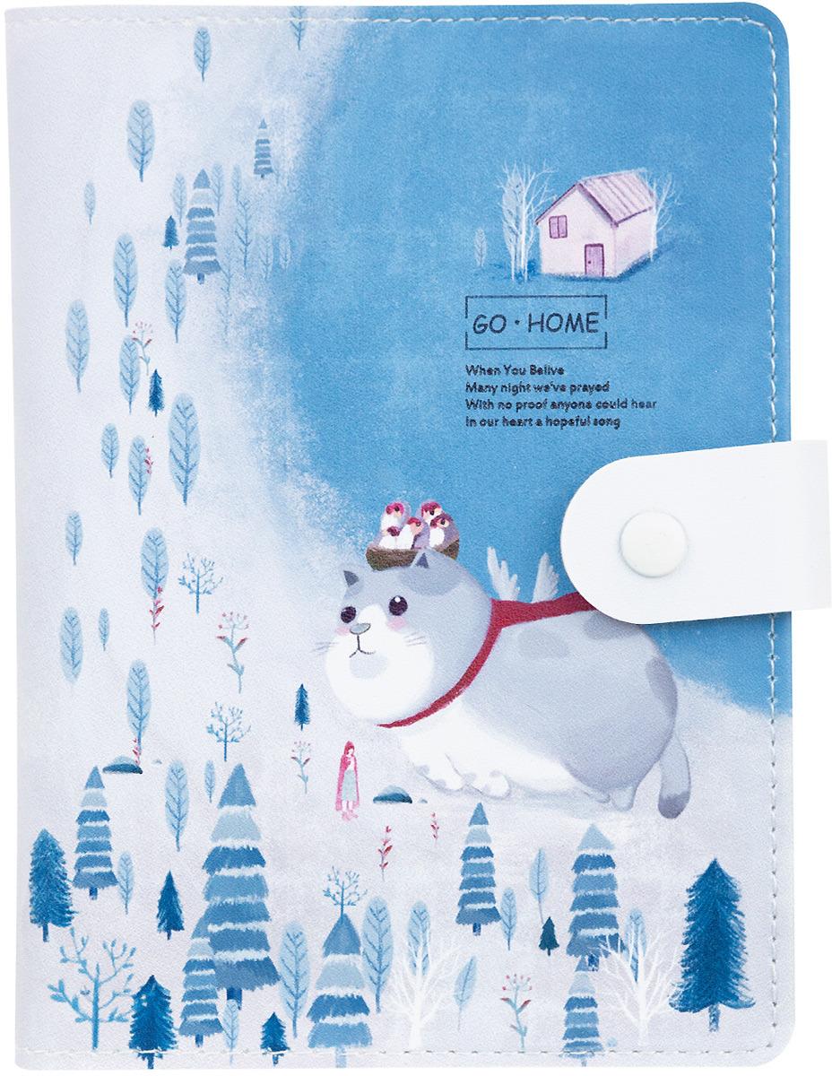 Ежедневник на кнопке Kawaii Factory Большой кот. Лес, 112 страниц, формат А6 ежедневник на кнопке kawaii factory большой кот лес 112 страниц формат а6
