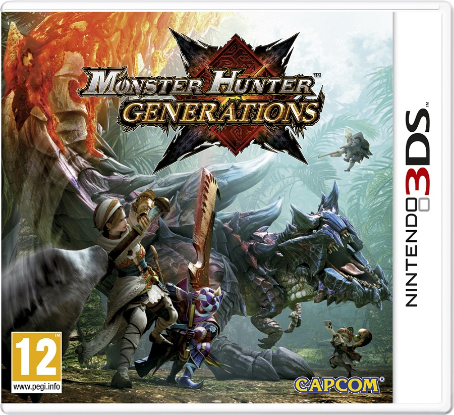 Monster Hunter Generations (Nintendo 3DS) monster hunter 4g mh4 front