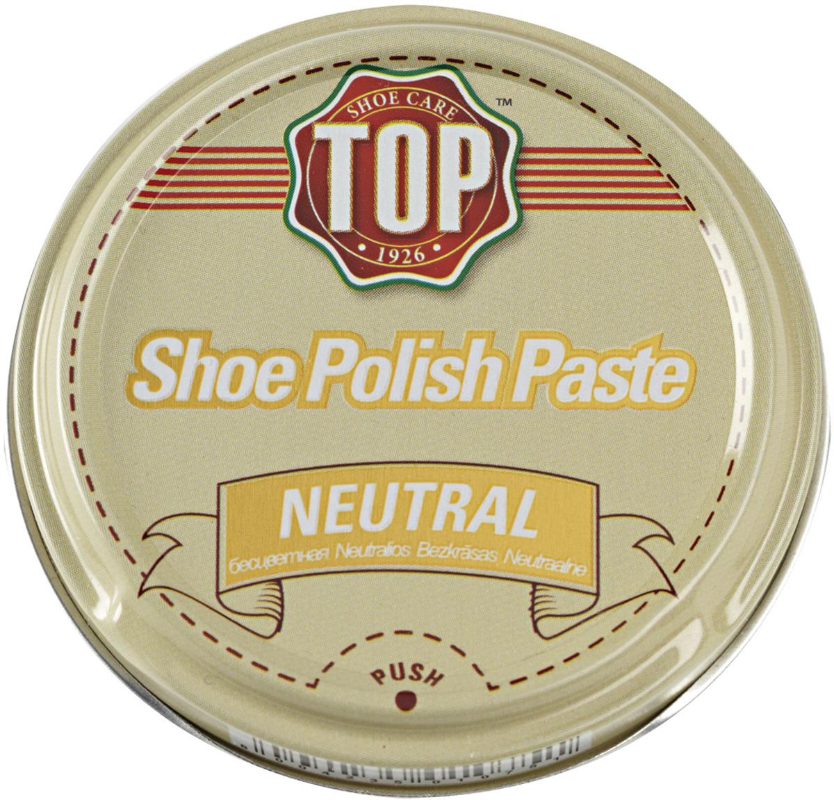 Крем для обуви TOP, цвет: бесцветный, 50 мл жир для кожаной обуви centralin цвет бесцветный 150 мл уцененный товар 3