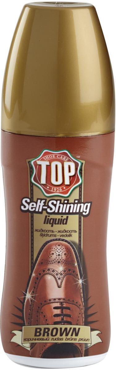 Жидкая полироль для кожи TOP, цвет: коричневый, 75 мл сушильный стеллаж для обуви змк zmk komfor на 70 пар