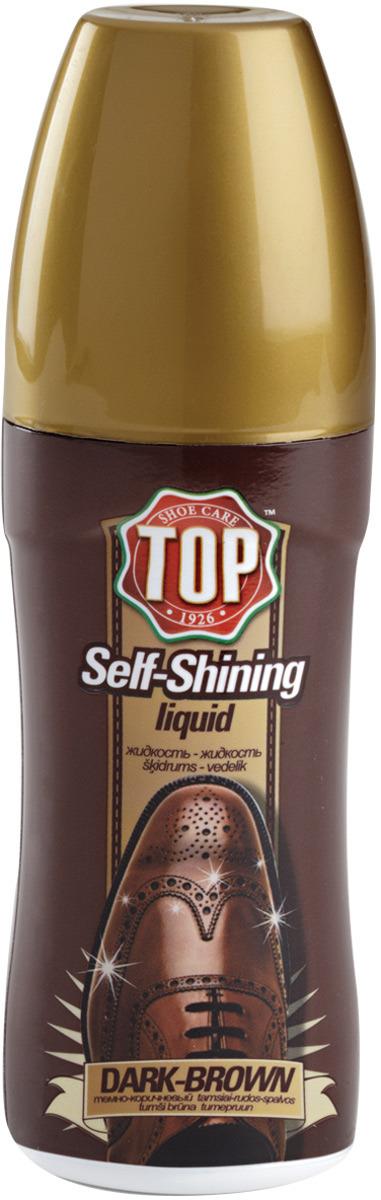 Жидкая полироль для кожи TOP, цвет: темно-коричневый, 75 мл сушильный стеллаж для обуви змк zmk komfor на 70 пар