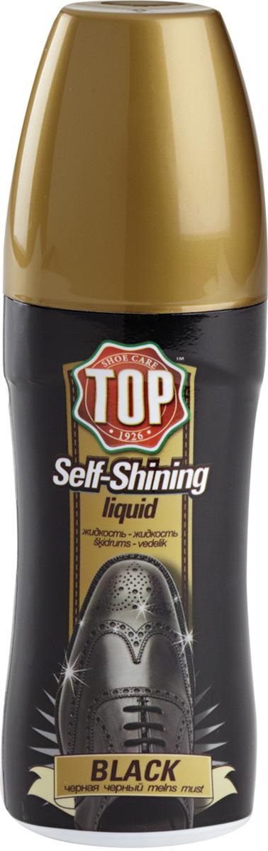 Жидкая полироль для кожи TOP, цвет: черный, 75 мл сушильный стеллаж для обуви змк zmk komfor на 70 пар