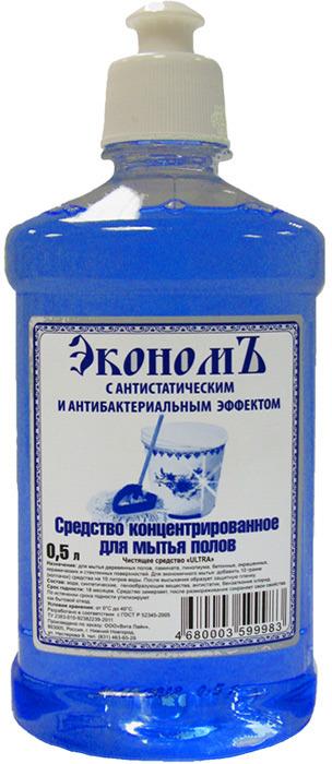 Средство для мытья полов ЭкономЪ, концентрат, 500 мл концентрат для мытья полов и стен prosept multipower полевые цветы 800 мл