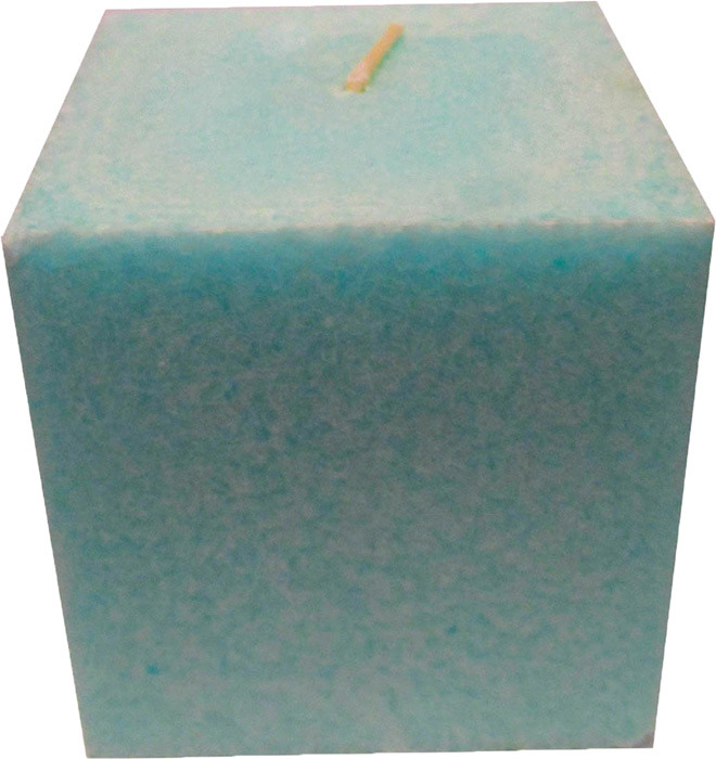 """Свеча ароматизированная Chameleon """"Куб"""", яблоко, цвет: светло-зеленый, 7,5 x 7,5 x 7,5 см"""
