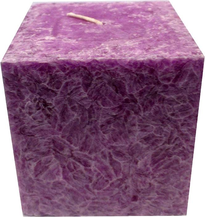 """Свеча ароматизированная Chameleon """"Куб"""", черная смородина, цвет: сиреневый, 7,5 x 7,5 x 7,5 см"""
