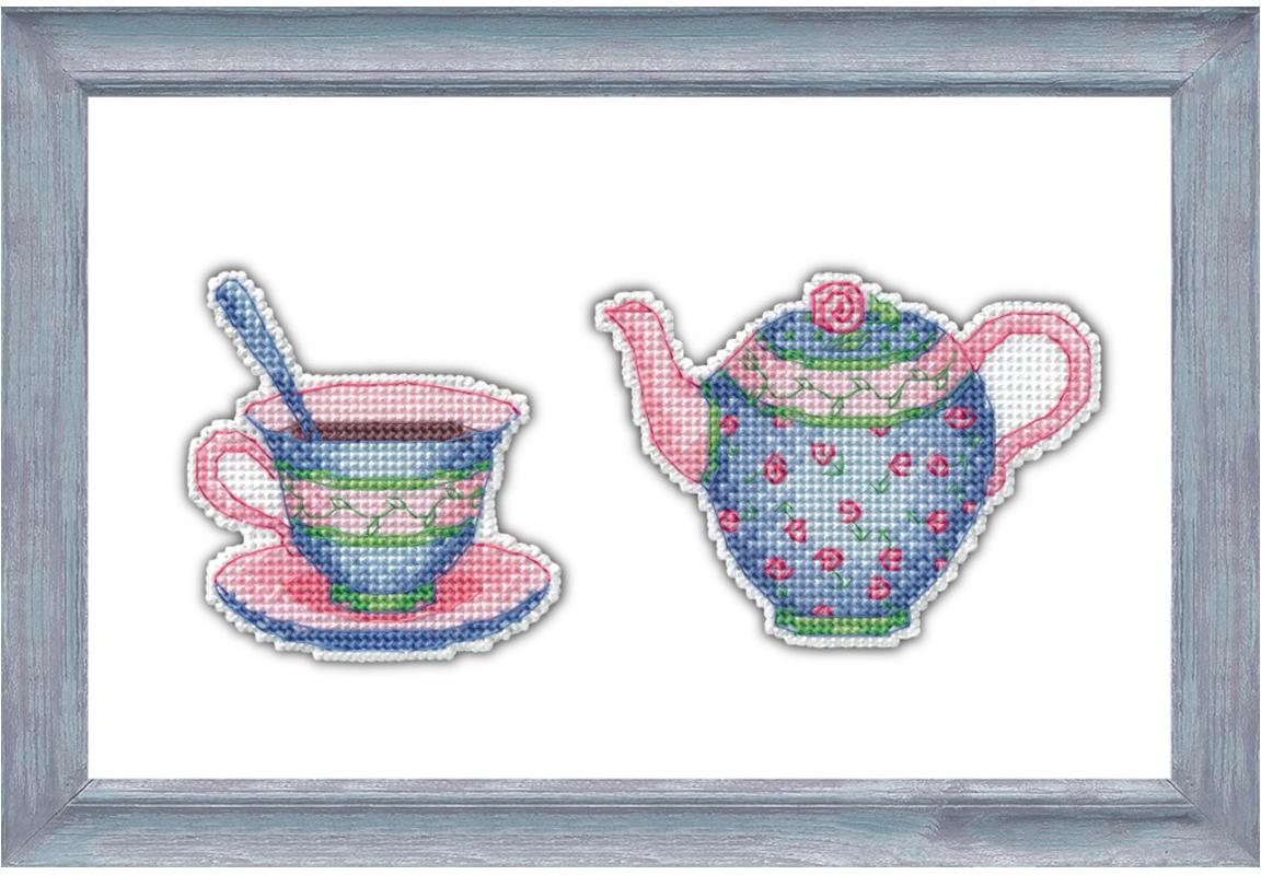 Набор для вышивания Овен Приятного чаепития- 3, 10 х 7 см набор для вышивания магнита овен анапа на пластиковой основе 13 х 7 см