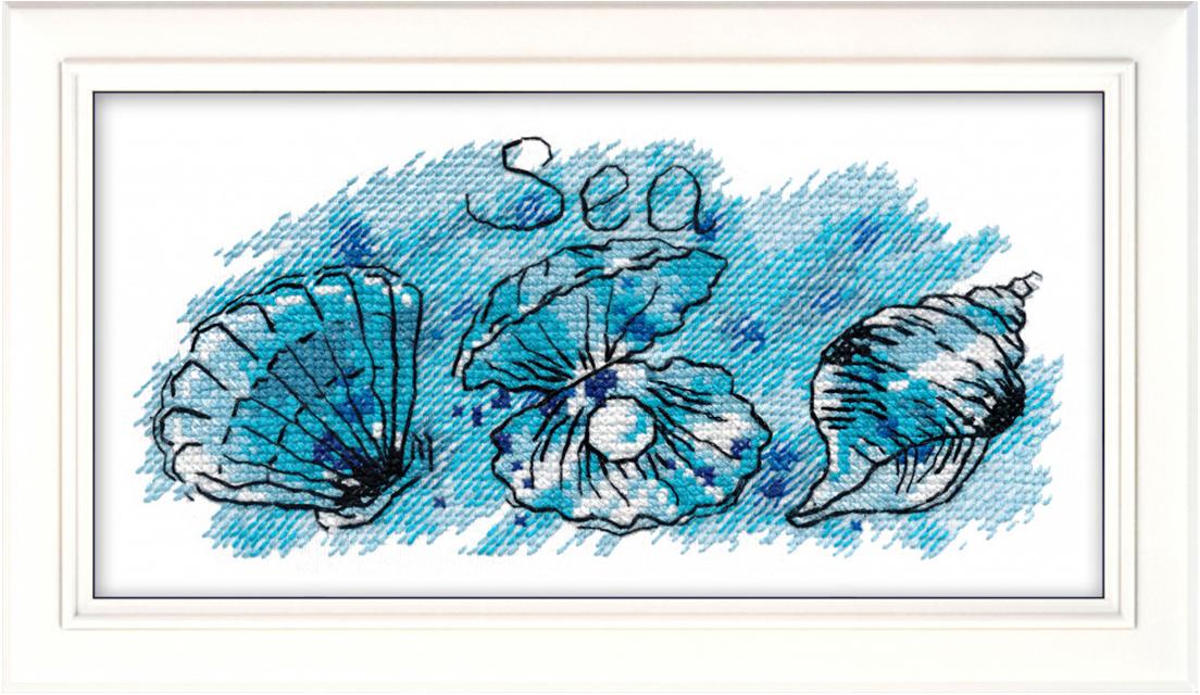 Набор для вышивания Овен Жемчужина моря, 17 х 8 см набор для вышивания магнита овен анапа на пластиковой основе 13 х 7 см
