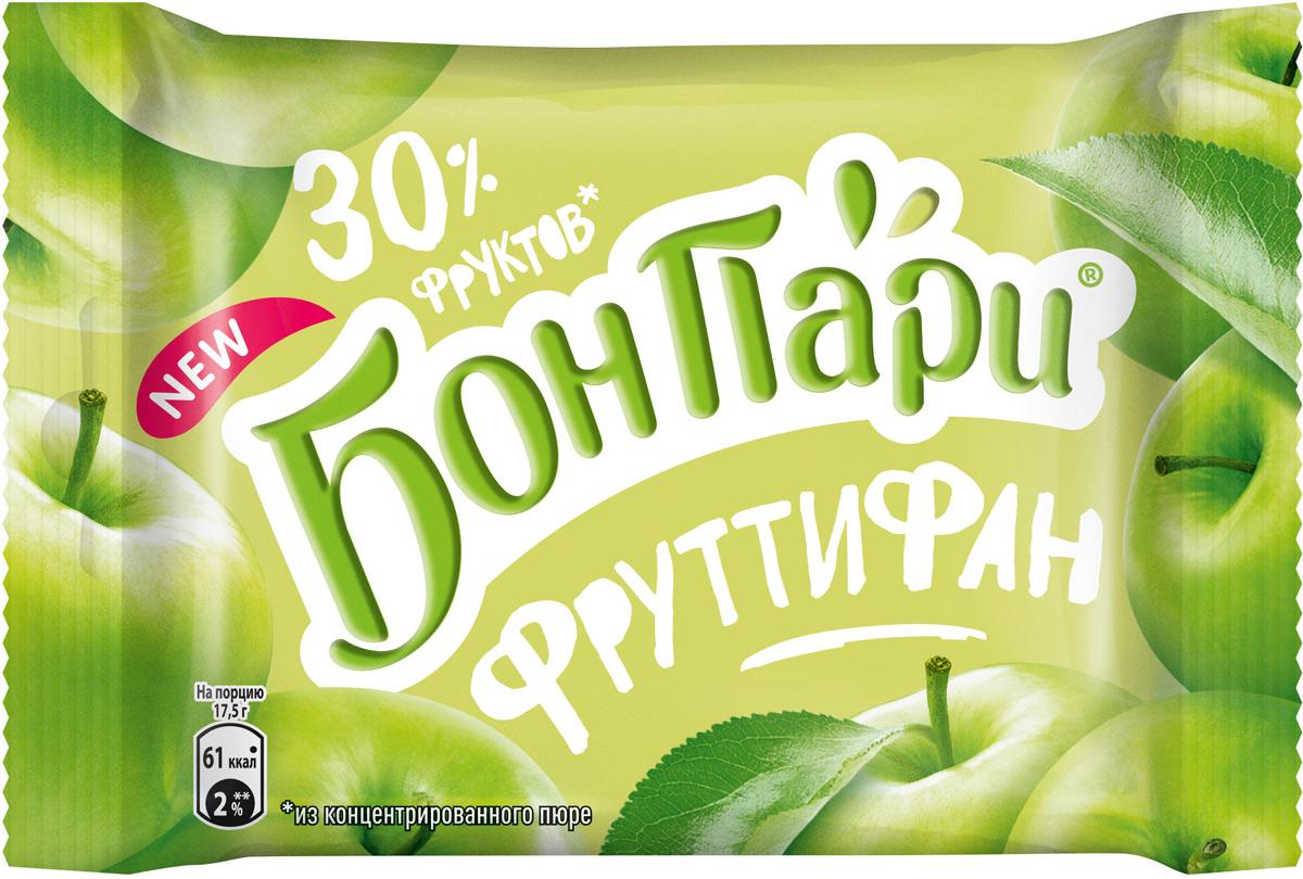Мармелад Бон Пари Фруттифан, с зеленым яблоком, 42 г жевательный мармелад фигурный бон пари кислые змейки со вкусом фруктов 120 г