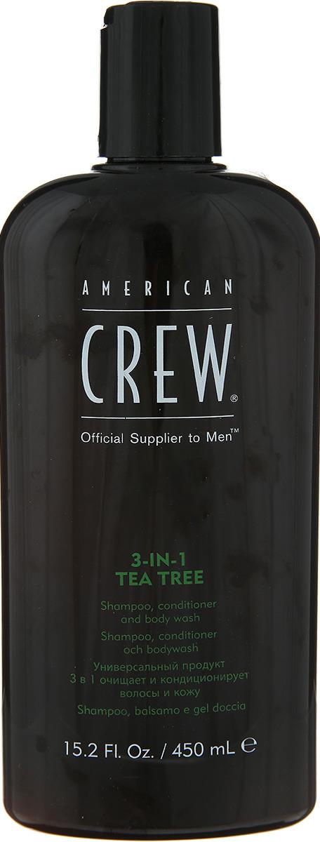 American Crew Tea Tree 3-in-1 Средство 3 в 1 Шампунь, Кондиционер и Гель для душа Чайное дерево, 450 мл