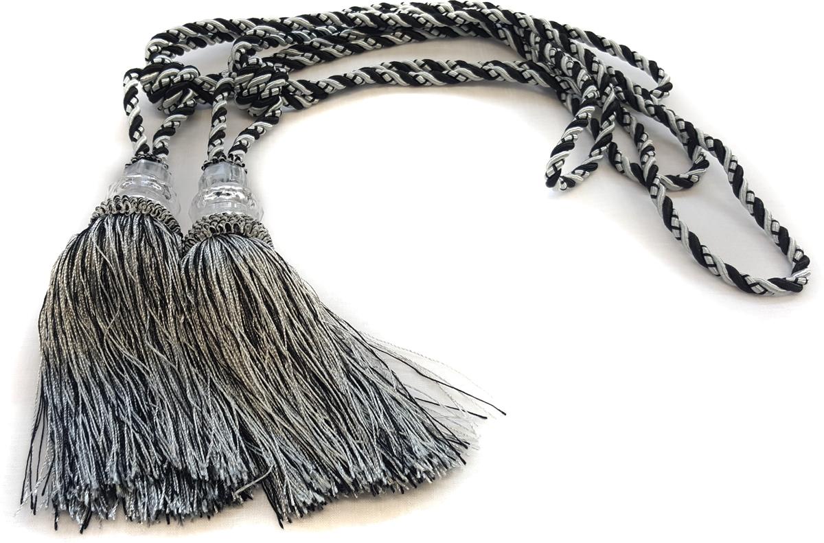Подхват для штор Zlata Korunka, с кистями, цвет: серый. 05501