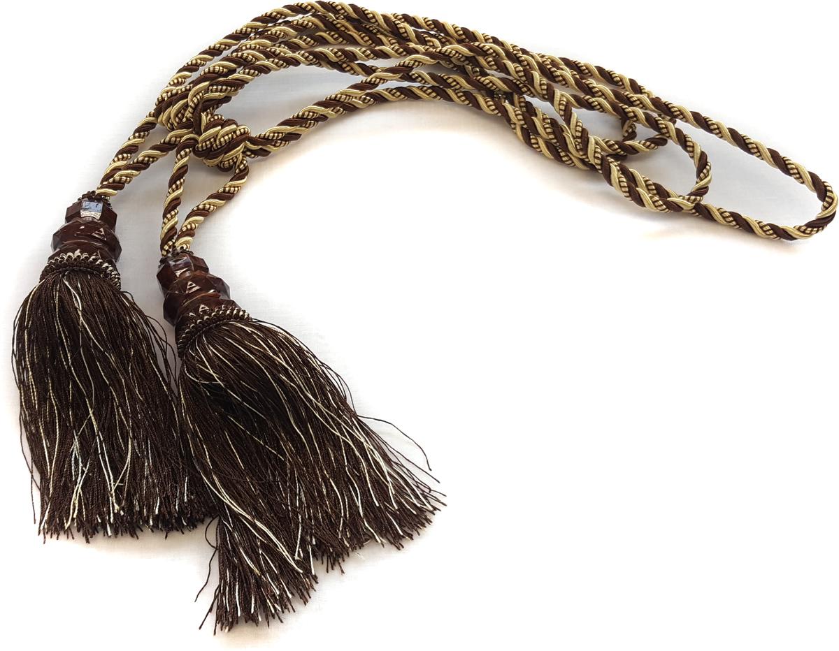 Подхват для штор Zlata Korunka, с кистями, цвет: коричневый. 05502